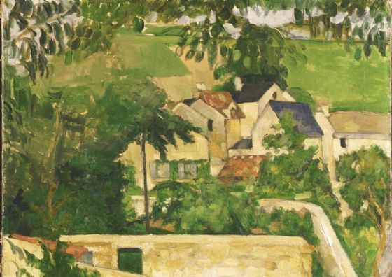 Cezanne, Paul: Quartier Four, Auvers-sur-Oise (Landscape, Auvers). Fine Art Print/Poster. Sizes: A4/A3/A2/A1 (004241)